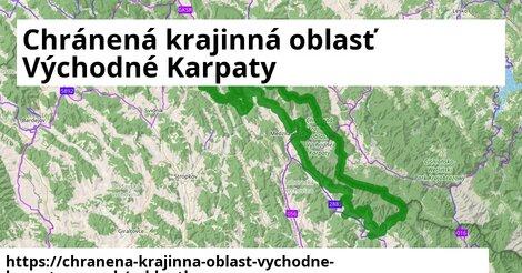 ikona Chránená krajinná oblasť Východné Karpaty: 12,9km trás cykloatlas  chranena-krajinna-oblast-vychodne-karpaty