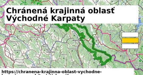 ikona Chránená krajinná oblasť Východné Karpaty: 148km trás turisticky-atlas  chranena-krajinna-oblast-vychodne-karpaty