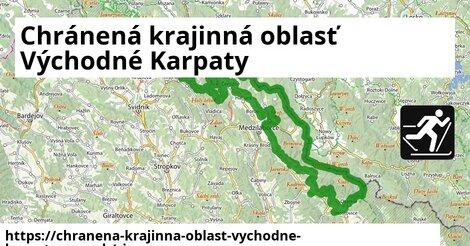 ikona Chránená krajinná oblasť Východné Karpaty: 4,3km trás zimna-mapa  chranena-krajinna-oblast-vychodne-karpaty