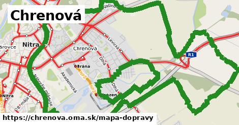 ikona Chrenová: 172km trás mapa-dopravy  chrenova