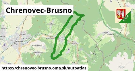 ikona Mapa autoatlas  chrenovec-brusno