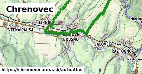 ikona Mapa autoatlas  chrenovec