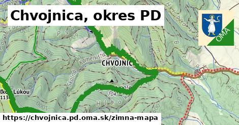 ikona Chvojnica, okres PD: 8,3km trás zimna-mapa  chvojnica.pd