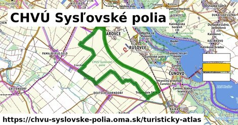 ikona Turistická mapa turisticky-atlas  chvu-syslovske-polia