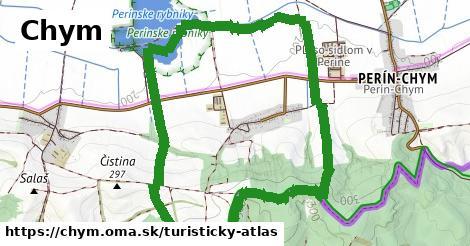 ikona Chym: 1,38km trás turisticky-atlas  chym