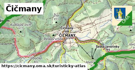 ikona Čičmany: 43km trás turisticky-atlas  cicmany