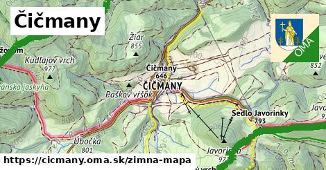 ikona Zimná mapa zimna-mapa  cicmany