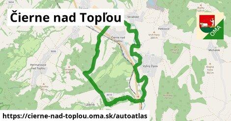 ikona Mapa autoatlas  cierne-nad-toplou