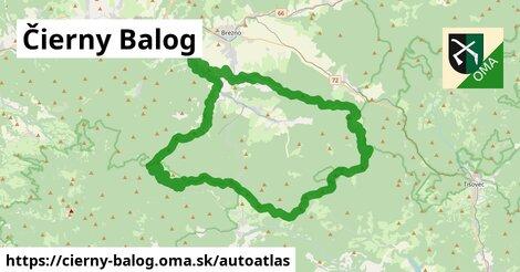 ikona Mapa autoatlas  cierny-balog