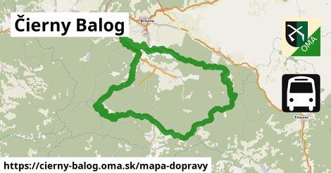 ikona Čierny Balog: 13,5km trás mapa-dopravy  cierny-balog