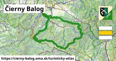 ikona Čierny Balog: 67km trás turisticky-atlas  cierny-balog