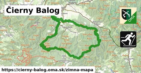 ikona Zimná mapa zimna-mapa  cierny-balog