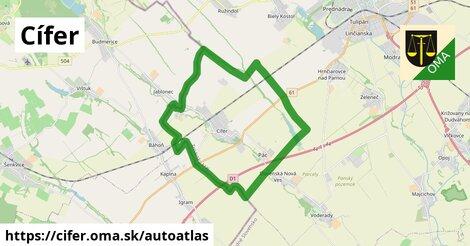 ikona Mapa autoatlas  cifer