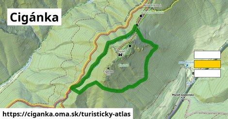 ikona Turistická mapa turisticky-atlas  ciganka