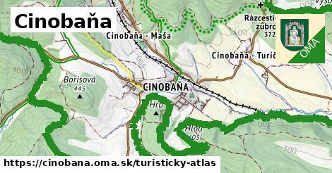 ikona Cinobaňa: 27km trás turisticky-atlas  cinobana