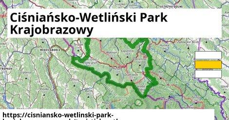 ikona Turistická mapa turisticky-atlas  cisniansko-wetlinski-park-krajobrazowy