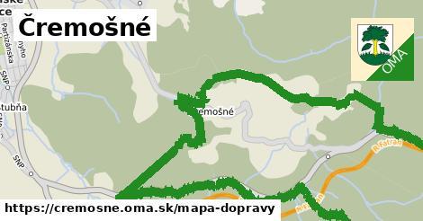 ikona Čremošné: 3,9km trás mapa-dopravy  cremosne