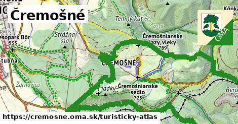 ikona Čremošné: 30km trás turisticky-atlas  cremosne