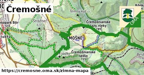 ikona Čremošné: 13,4km trás zimna-mapa  cremosne