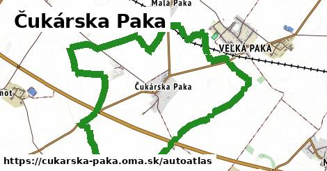 ikona Mapa autoatlas  cukarska-paka