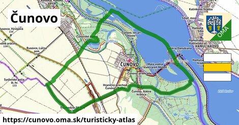 ikona Čunovo: 11,2km trás turisticky-atlas  cunovo