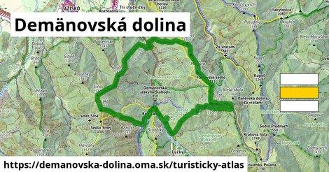 ikona Demänovská dolina: 14,7km trás turisticky-atlas  demanovska-dolina