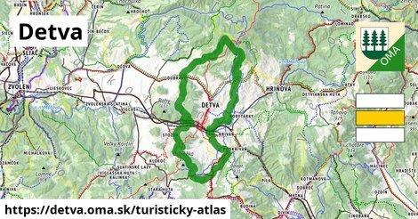 ikona Detva: 32km trás turisticky-atlas  detva