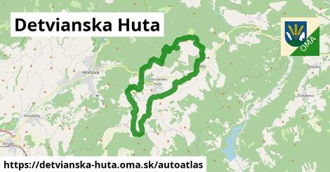 ikona Mapa autoatlas  detvianska-huta