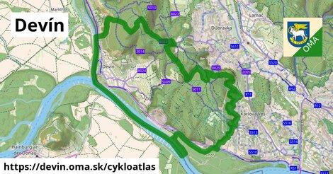ikona Devín: 44km trás cykloatlas  devin