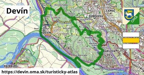 ikona Devín: 20km trás turisticky-atlas  devin