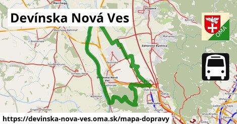 ikona Devínska Nová Ves: 217km trás mapa-dopravy  devinska-nova-ves