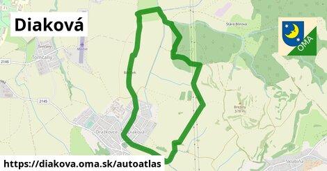 ikona Mapa autoatlas  diakova