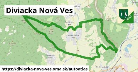 ikona Mapa autoatlas  diviacka-nova-ves