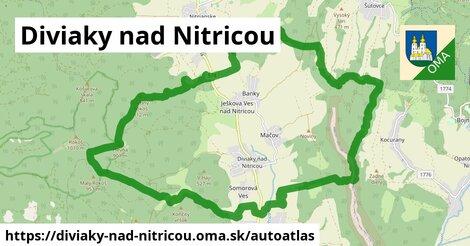 ikona Mapa autoatlas  diviaky-nad-nitricou