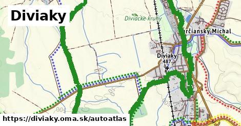 ikona Mapa autoatlas  diviaky