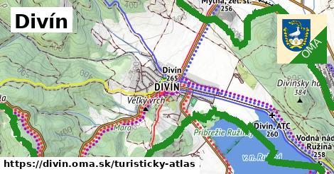 ikona Divín: 27km trás turisticky-atlas  divin