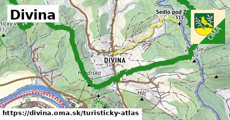 ikona Turistická mapa turisticky-atlas  divina