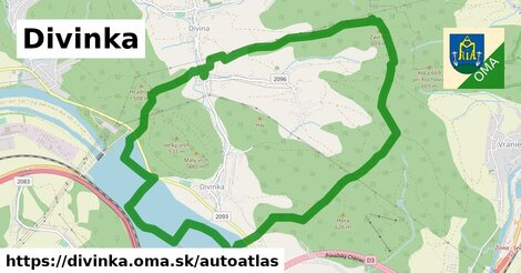 ikona Mapa autoatlas  divinka