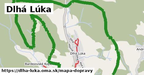 ikona Dlhá Lúka: 11,6km trás mapa-dopravy  dlha-luka