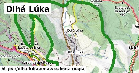ikona Dlhá Lúka: 0m trás zimna-mapa  dlha-luka