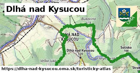 ikona Dlhá nad Kysucou: 0m trás turisticky-atlas v dlha-nad-kysucou
