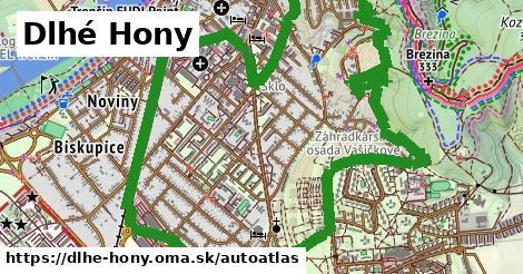 ikona Mapa autoatlas  dlhe-hony