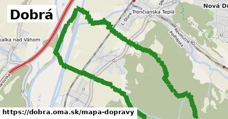 ikona Dobrá: 5,5km trás mapa-dopravy  dobra