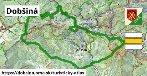 ikona Dobšiná: 84km trás turisticky-atlas  dobsina