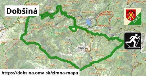 ikona Dobšiná: 13,7km trás zimna-mapa  dobsina