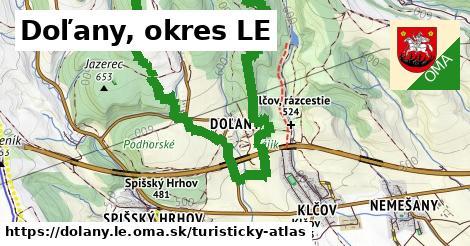 ikona Doľany, okres LE: 0m trás turisticky-atlas v dolany.le