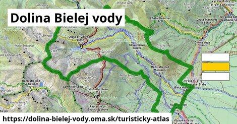 ikona Dolina Bielej vody: 26km trás turisticky-atlas  dolina-bielej-vody