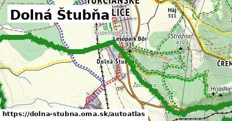 ikona Mapa autoatlas  dolna-stubna