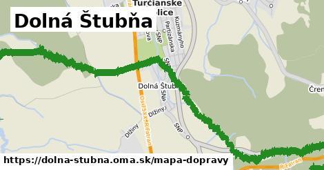 ikona Dolná Štubňa: 9,0km trás mapa-dopravy v dolna-stubna