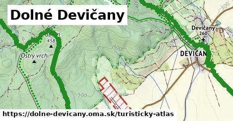 ikona Dolné Devičany: 5,3km trás turisticky-atlas  dolne-devicany